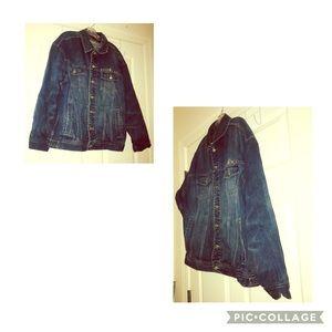 ROCAWEAR Denim Jean Vtg 90s Jacket Men's Size L.